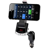 MorjavaBT8118 Car Bluetooth FM Transmitter with Phone Mount Car Charger Bluetooth Car Kit Radio Adapter for iPhone Android Phone iPod MP3 Players