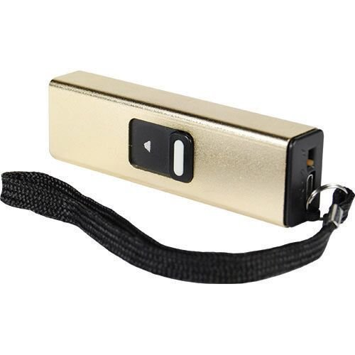 Compact Stun Gun with Simple Slide Action for Ultimate Portable Safety (gold)
