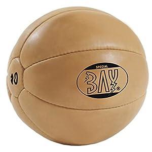 BAY® LEDER PU 10 Kilo Medizinball, Profi-Qualität, Gymnastik / Fitness Ball,...