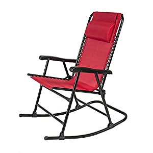 DzVeX Folding Rocking Chair Foldable Rocker Outdoor Patio Furniture Red And porch swing wooden swing bench wooden porch swings porch swing home depot porch swing patio swing with canopy