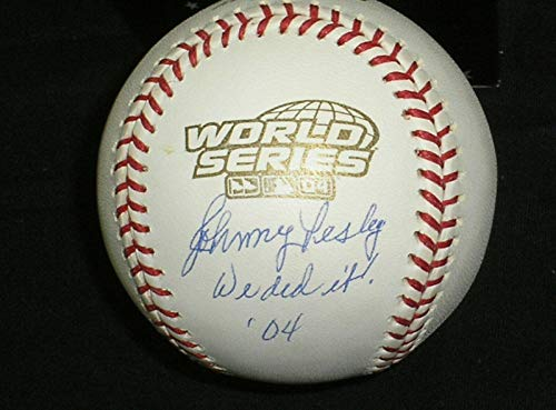 Johnny Pesky Autographed Ball - 2004 World Series BECKETT BAS COA - Beckett Authentication - Autographed Baseballs