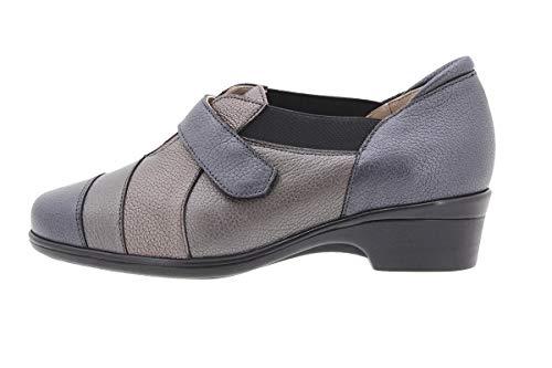 Cómodo 9606 De Confort Piesanto Ancho Velcro Mujer Calzado Piel Casual Negro Zapato wXqHTgz