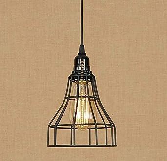 Araña de luces Iluminación de la lámpara Araña Loft Jaula de ...