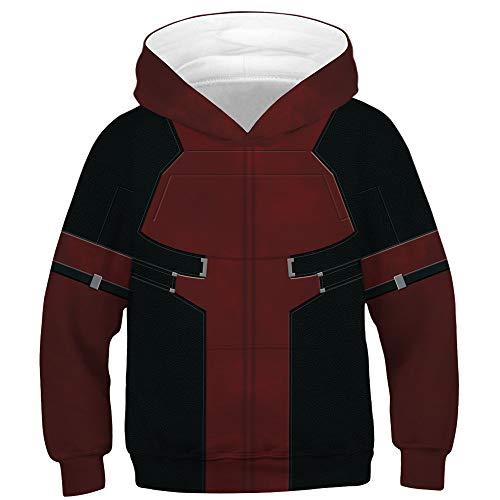 (TAKUSHI HF Teen Boys Girls Fashion 3D Printed Galaxy Long Sleeve Pullover Hoodies Hooded Sweatshirts with Pocket)