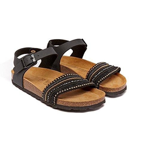 Mandèl MD4602 - Sandalias de Vestir de Piel Sintética Para Mujer Negro Negro
