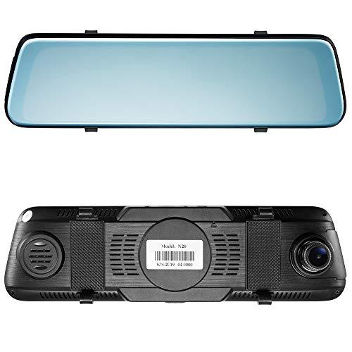 WeigavDV 9.66 Inch Car Driving Video Recorder 1080P Car Rearview Mirror Night Vision Car Dvr Full HD Traffic Recorder Camera Car Reverse Image Dual Lens Waterproof Dash Cam