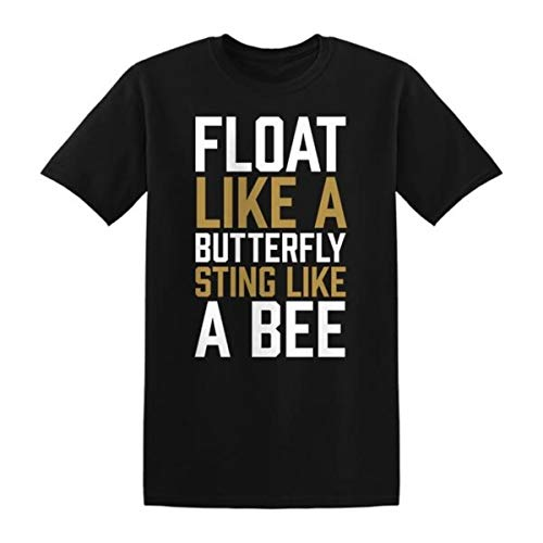Muhammad Ali Float Like A Butterfly Sting Like A Bee T-Shirt Black (X-Large)