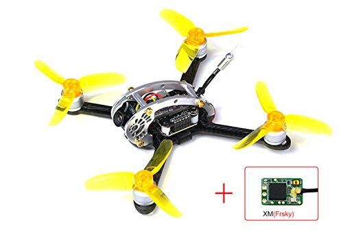 KINGKONG/LDARC Fly Egg 130 PNP FPV Racing Mini Indoor Brushless Drone Quadcopter with XM Receiver Compatible with Frsky
