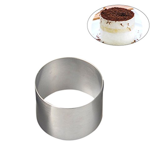 OUNONA 2 Inch Circle Cookie Biscuit Cutter Set - Stainless Steel Round Pastry Cutters for Biscuits, Fondant, Donuts,Dough, Muffins