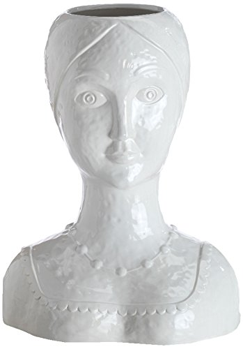Abigails Female Ceramic Head Vase, 13-Inch by 8-Inch by