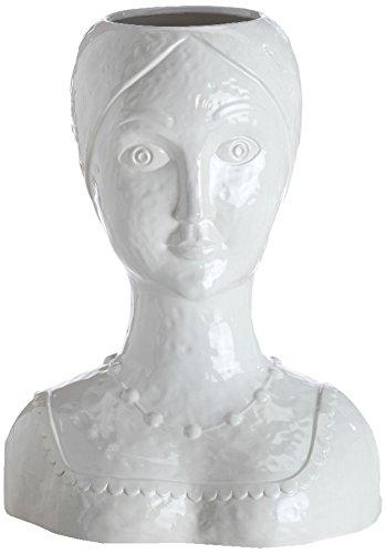 Abigails Female Ceramic Head Vase, 13-Inch by 8-Inch by 16-Inch