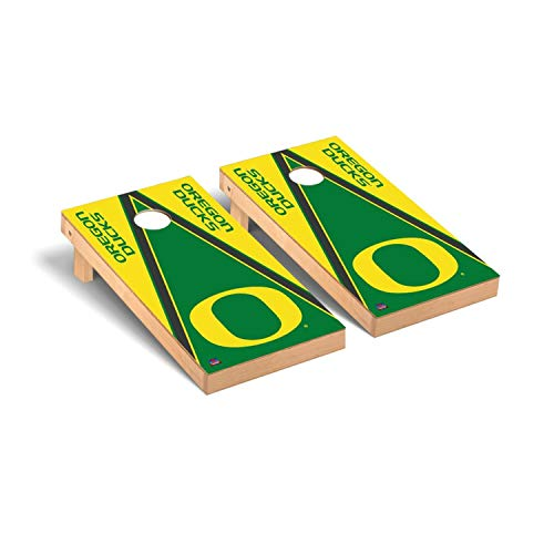 Victory Tailgate Regulation Collegiate NCAA Triangle Series Cornhole Board Set - 2 Boards, 8 Bags - Oregon Ducks
