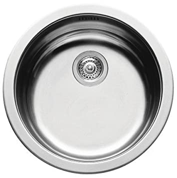 pyramis round bowl kitchen sink stainless steel - Kitchen Sink Round