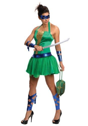 [Adult TMNT Leonardo Dress Medium] (Ninja Turtle Female Costumes)