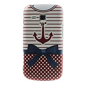 DUR Anchor Nautical Hard Plastic Case Cover for Samsung Galaxy S Duos S7562 S7560