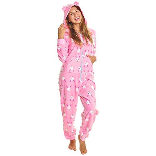 Angelina Women's Fleece Novelty One-Piece Hooded Pajamas, PJ1Z_Bunny_SM]()