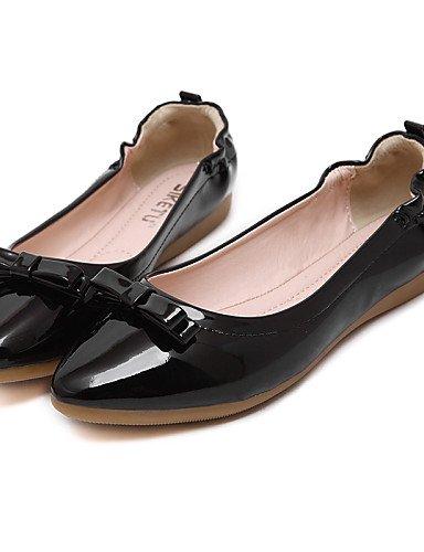 PDX/ Damenschuhe - Ballerinas - Kleid / Lässig - Kunstleder - Flacher Absatz - Komfort / Spitzschuh / Geschlossene Zehe -Schwarz / Rot / , red-us6 / eu36 / uk4 / cn36 , red-us6 / eu36 / uk4 / cn36