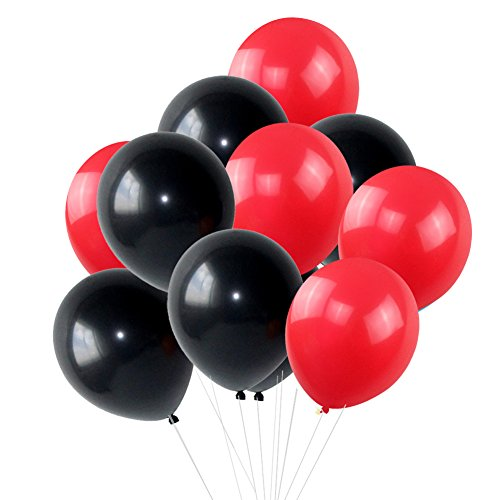 10 inch PLAIN LATEX BALLOONS Party Wedding Birthday Decorations red - 2