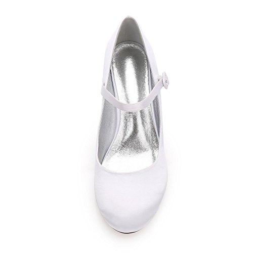 De High Heels Party Toe Almond yc F17061 Las L Court Boda zapatos Personalizados 27 White Mujeres Satin EqnBwHx