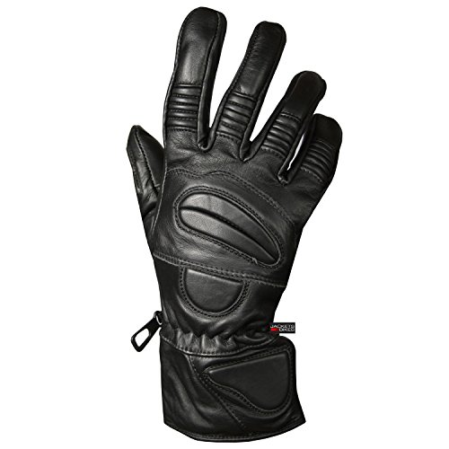 New Premium Leather Winter Motorcycle Riding Gloves Biker Thermal Black M