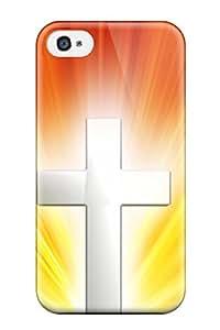 Hot Design Premium OIXJEOx3045tetSC Tpu Case Cover Iphone 4/4s Protection Case(bright Cross )