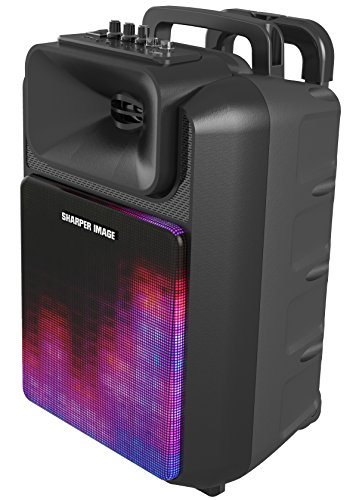 Sharper Image SBT1016BK Bluetooth Wireless Portable Tailgate Speaker With Lights, Aux-in, Easy to Carry, Rechargeable