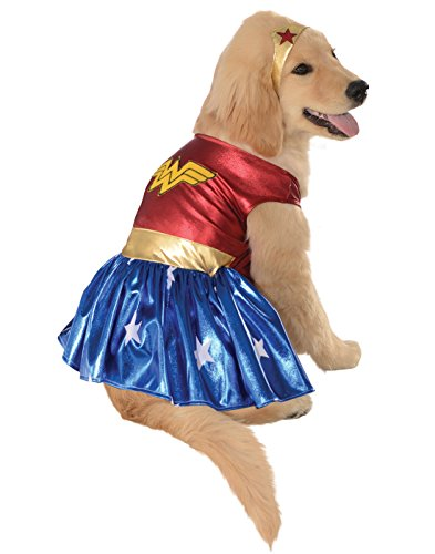 DC Comics Pet Costume, Medium, Wonder Woman
