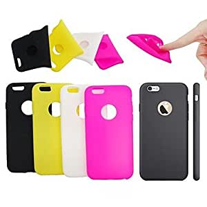 ZL Exclusive Design Novelty Super Soft Solid Color Silicone Back Cover for iPhone 6(Assorted Color) , Yellow