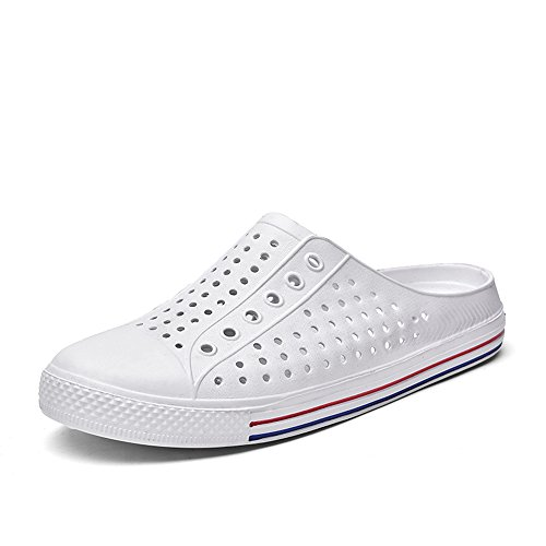 Les sheos Talon de Hommes Summer Blanc Mode Mens Pantoufle Shoes Plat Slip Les Mules Femmes la sur Wenquan 2018 d6qXRndp