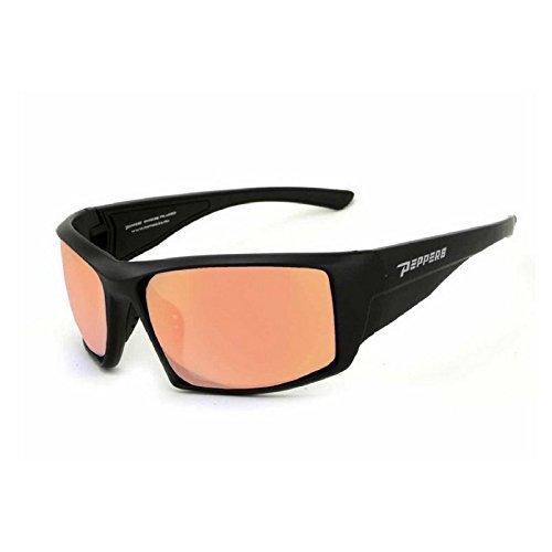 (Peppers Men's Quiet Storm Sunglasses Matte Black with Rose TAC-Tical Lens)