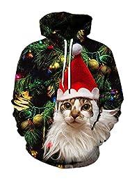 IYOWEL Unisex 3D Hoodie Printed Hoodies Hooded Lovers Sweatshirts Long Sleeve Sweater