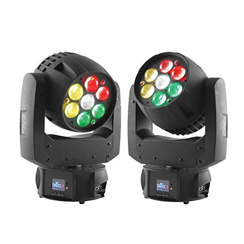 Chauvet Intimidator Wash Zoom 350 IRC LED Moving Head Wash Light Black 2-Pack by Chauvet