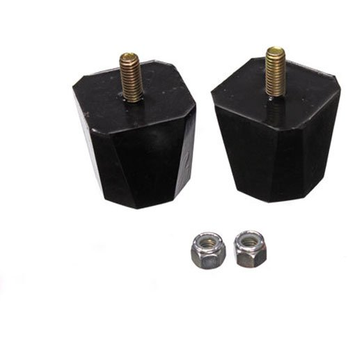 Energy Suspension 9.9136G Universal Bump Stop; Black; Square Tapered Style; H-2 in.; L-2 in.; W-7/8 in.; Incl. 2 Per Set; Performance Polyurethane;