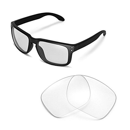 Walleva Replacement Lenses for Oakley Holbrook Sunglasses -Multiple Options - Clear Holbrook Lenses