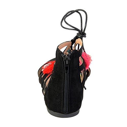 Sandalia de La Divina Fábrica TDF2964 Negro Noir