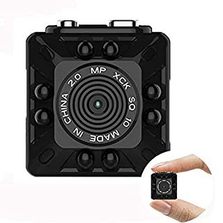 Hidden Spy Camera 1080P Mini Security Wireless cam with Night Vision, Video Recorder for Home, Office and Outdoor Use(SQ10)