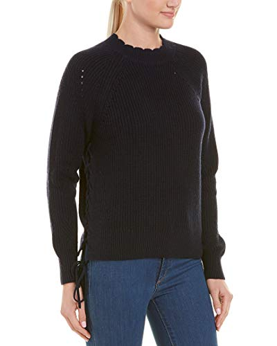 Joie Womens Adanya Cashmere-Blend Sweater, L, Blue