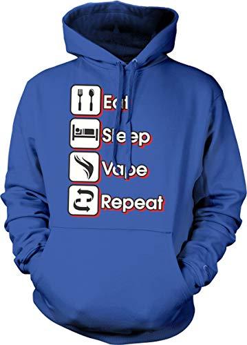 Hoodteez Eat, Sleep, Vape, Repeat Hooded Sweatshirt, M - Sub Coils Vape Ohm