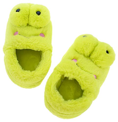 UIESUN Cute Frog Unisex Toddler Kids Slippers Shoes for Boys Girls House Slipper Green 16/17 by UIESUN (Image #4)