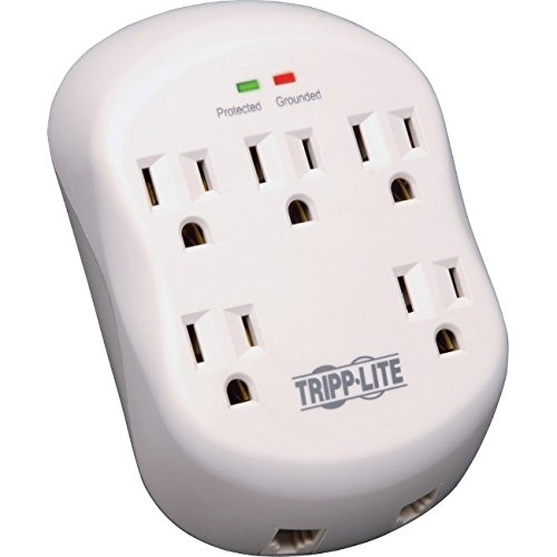 Rj11 Wall Mount - Tripp Lite Surge Protector Wallmount Direct Plug In 5 Outlet RJ11 1080 Jls