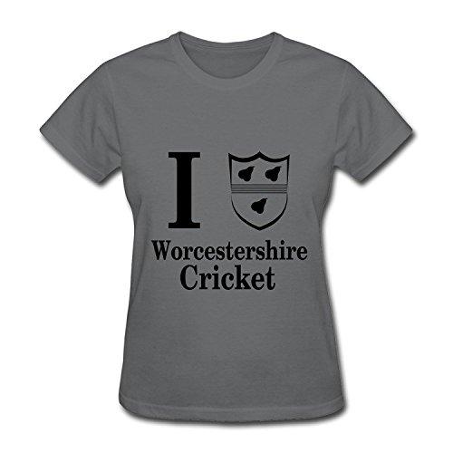 ZEKO Women's T Shirt Counties Cricket Worcestershire 2 Size S DeepHeather (Apparel Cricket Wireless)