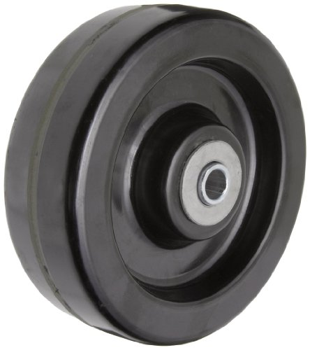"RWM Casters DUR-0620-08 6"" Diameter X 2"" Width Durastan Phenolic Wheel with Straight Roller Bearing, 1200 lbs Capacity, 1/2"" Axle Diameter"