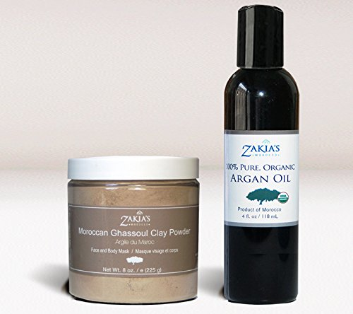 2 in1 Ghassoul Face and Body Mask and Argan Oil Skin Elixor