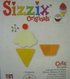 Cupcake & Ice Cream Die 38-0998 - Sizzix Ice Cream
