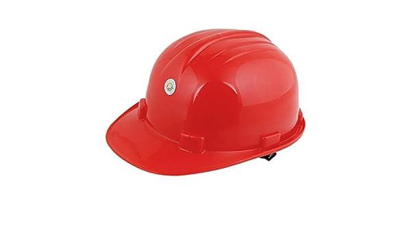 Duro rojo de la fábrica de plástico de construcción ajustable del sombrero del casco protector - - Amazon.com