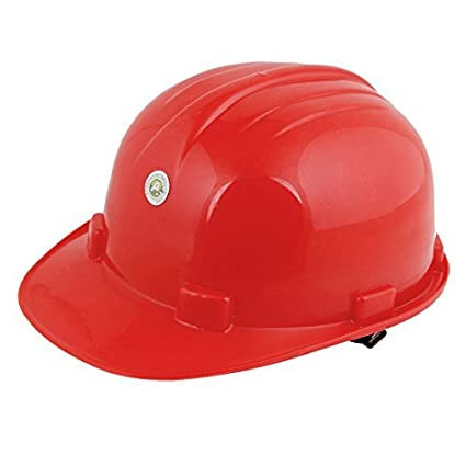 Duro rojo de la fábrica de plástico de construcción ajustable del sombrero del casco protector