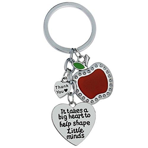 It Takes A Big Heart to Help Shape Little Minds Teacher Keychain Teacher Appreciation Gifts