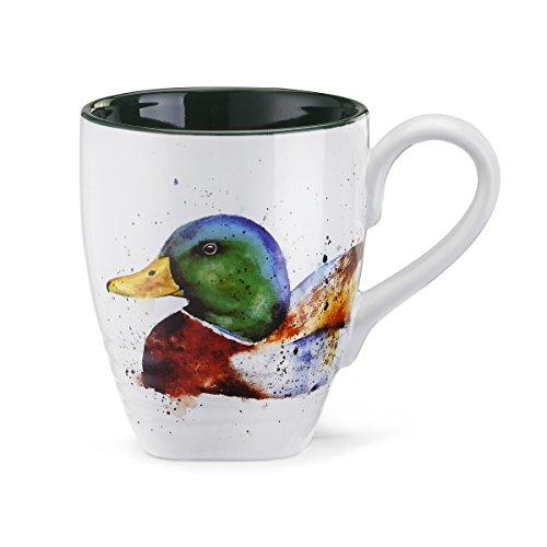DEMDACO Green and Brown Mallard Duck 16 Ounce Glossy Stoneware Mug With Handle