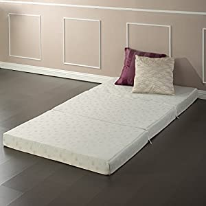 Zinus Memory Foam 4 Inch Tri-Fold Comfort Portable Folding Mattress or Floor Mat