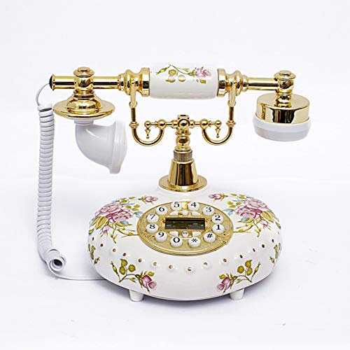 CQ TeléFono Vintage Creativo Retro Hogar CeráMica Dial Rotatorio Funcional